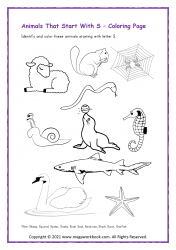 Animal Starting With S