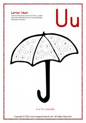 Letter Hunt (U For Umbrella)