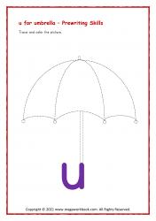 u for umbrella - Small u