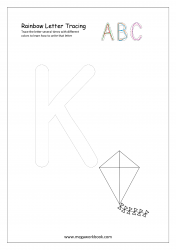 Playdough Letter Tracing - Rainbow Writing - Capital K Worksheet