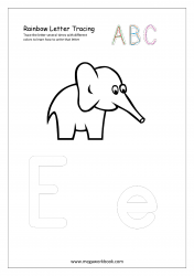 Playdough Letter Tracing - Rainbow Writing - Capital and Small E Worksheet