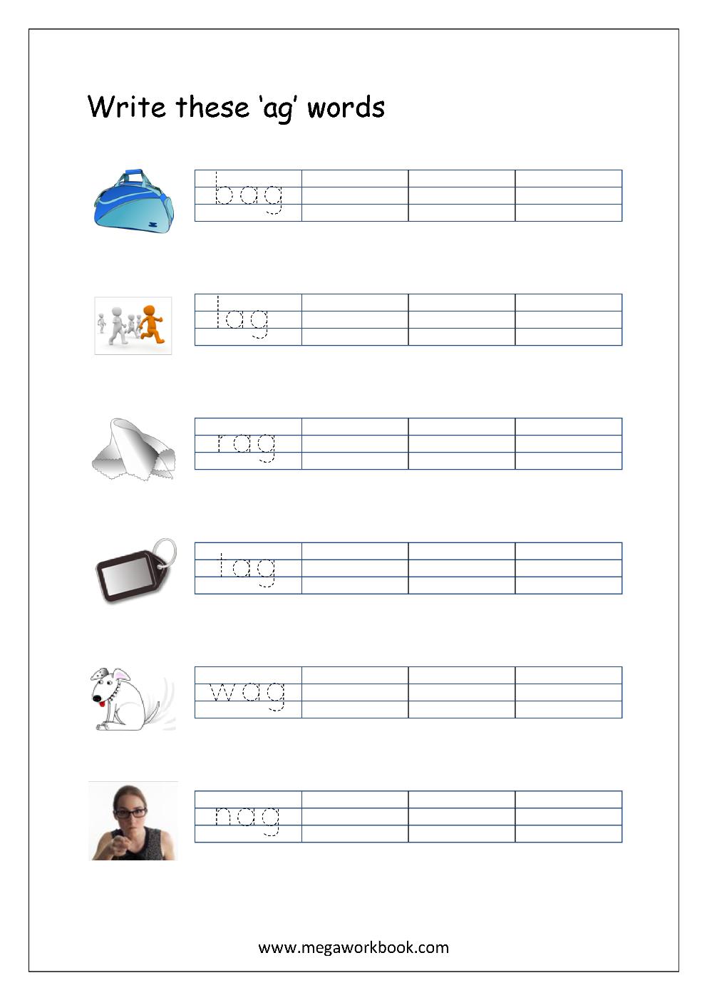 Workbooks rhyming patterns worksheets : Writing Rhyming Words - MegaWorkbook