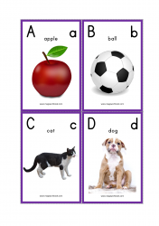 Alphabet Flash Cards - ABC Flash Cards - Letter Flashcards - FREE Printable Alphabet Letters With Pictures - ABCD