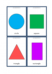 Shapes Flashcards - Preschool Printables - Circle, Square, Triangle, Rectangle