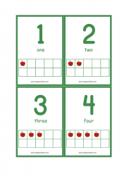 Ten Frame Printable Flashcards - Apple Theme Ten Frame Math Activity