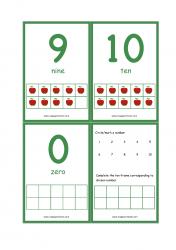 Ten Frame Printable Flashcards - Apple Theme Ten Frame Math Activity