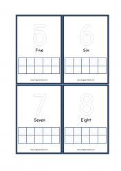 Ten Frame Printable Flashcards - Ten Frame Math Counting Activity 1-10