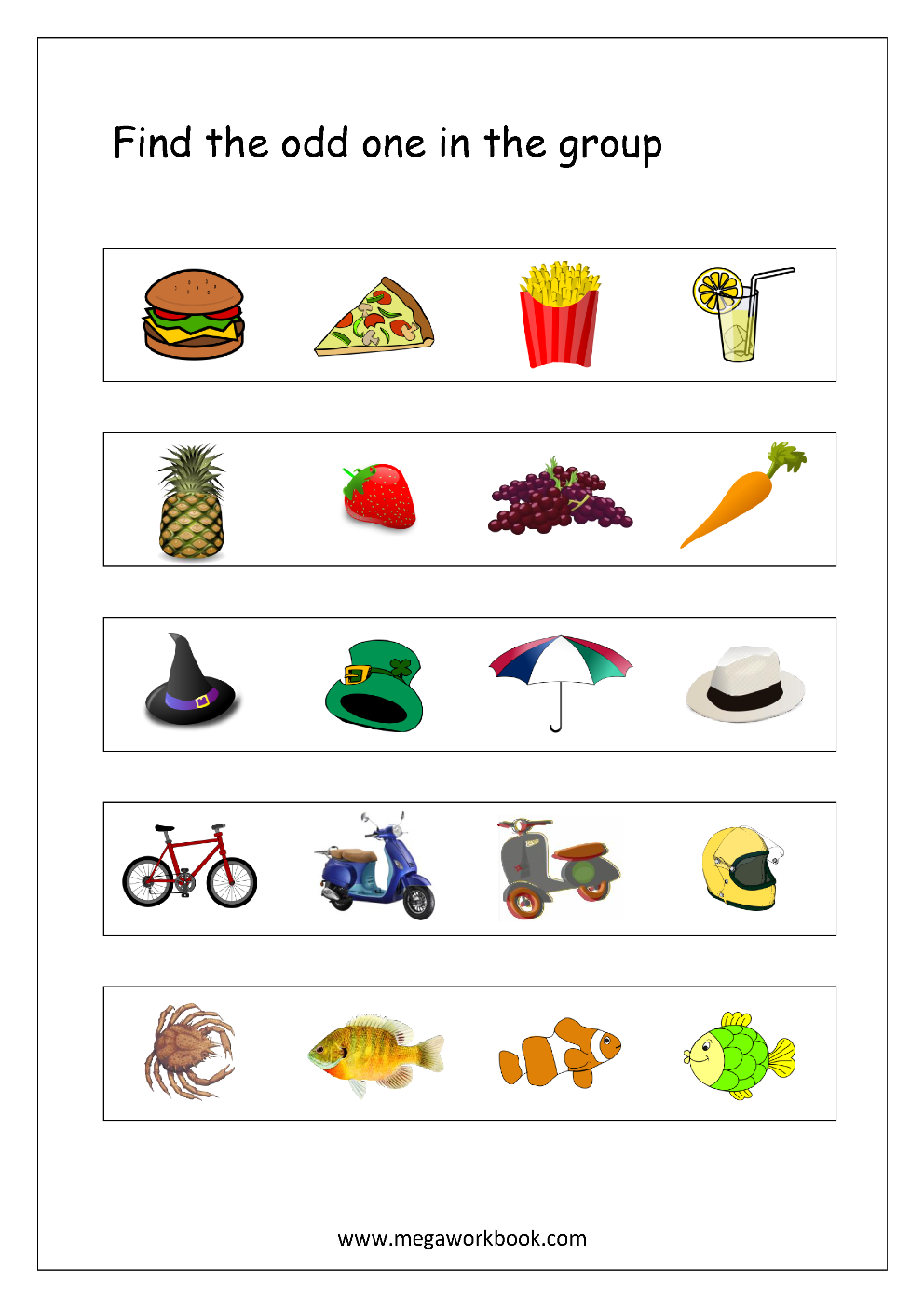 EYFS Children/'s Activity The odd one out