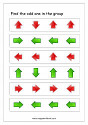 Odd One Out - Worksheet 7 (arrows)