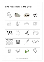 Odd One Out - Worksheet 10