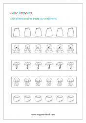 Color Pattern Worksheet - Patterns Worksheets For Kindergarten - Create Your Own Patterns