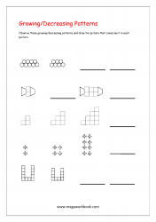 Growing And Decreasing Patterns Worksheets - Pattern Worksheets for Kindergarten