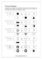 Picture Analogies Worksheet For Kindergarten - 01
