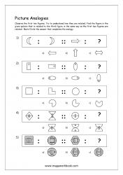 Picture Analogies Worksheet For Kindergarten - 06