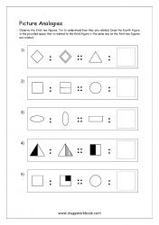 Picture Analogies Worksheet For Kindergarten - 11