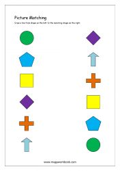 Picture Matching Worksheet - Shapes Matching