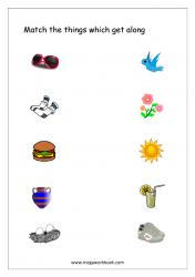 Things That Go Together Worksheet- Free Printable Worksheet
