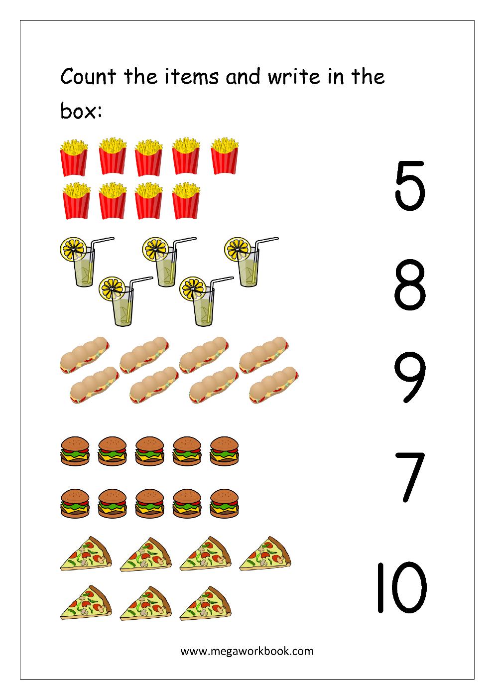 Free Printable Number Matching Worksheets For Kindergarten ...