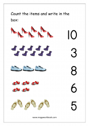 Math Counting And Number Matching Worksheet - Count And Match The Numbers  (1-10)