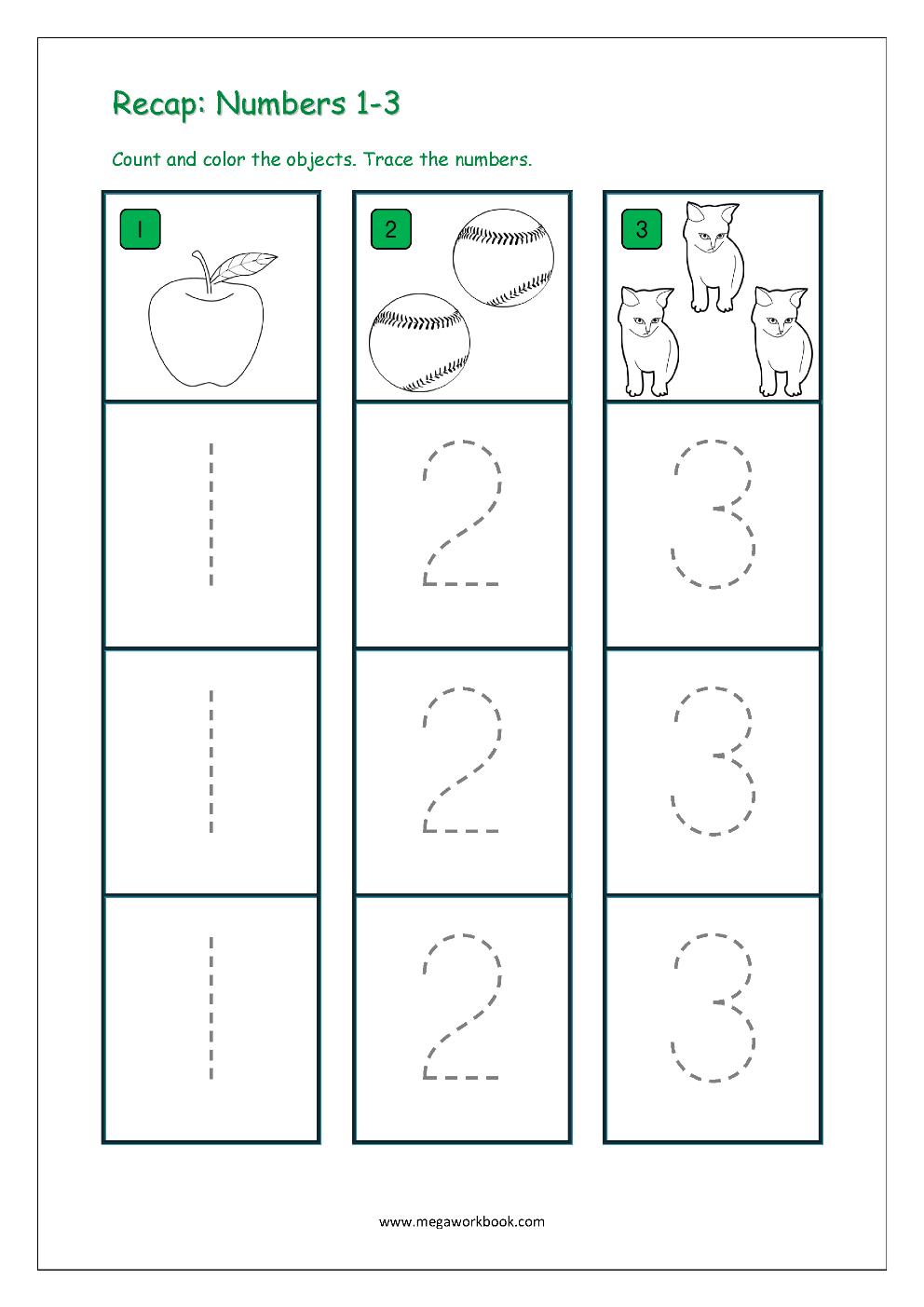 Number Tracing - Tracing Numbers - Number Tracing ...