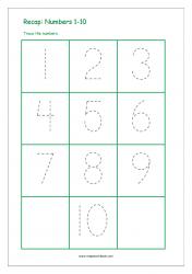 Recap Numbers 1-10