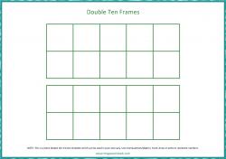Double Ten Frames Template