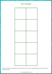 Ten Frame Template