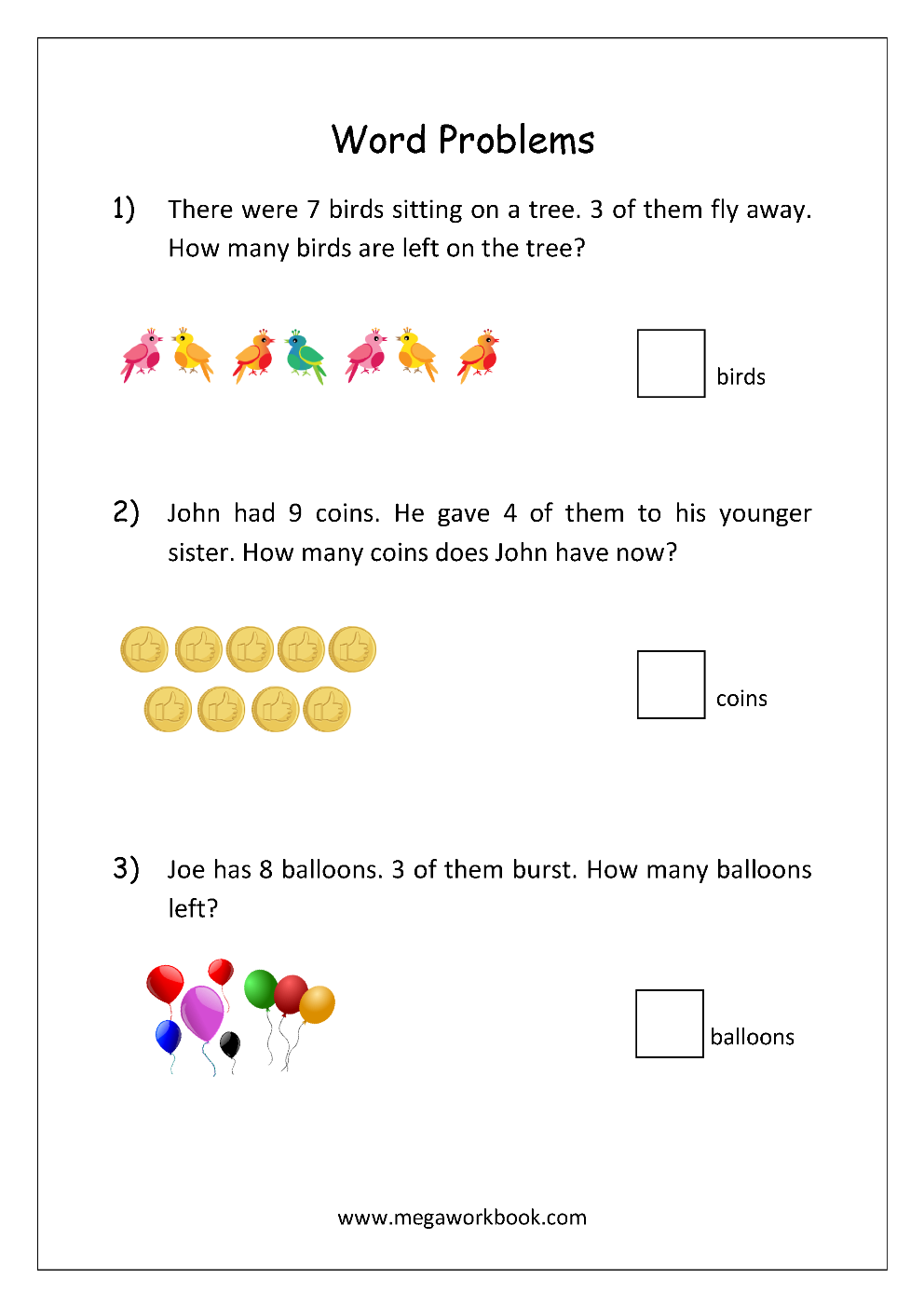 Word Problems (Addition/Subtraction)