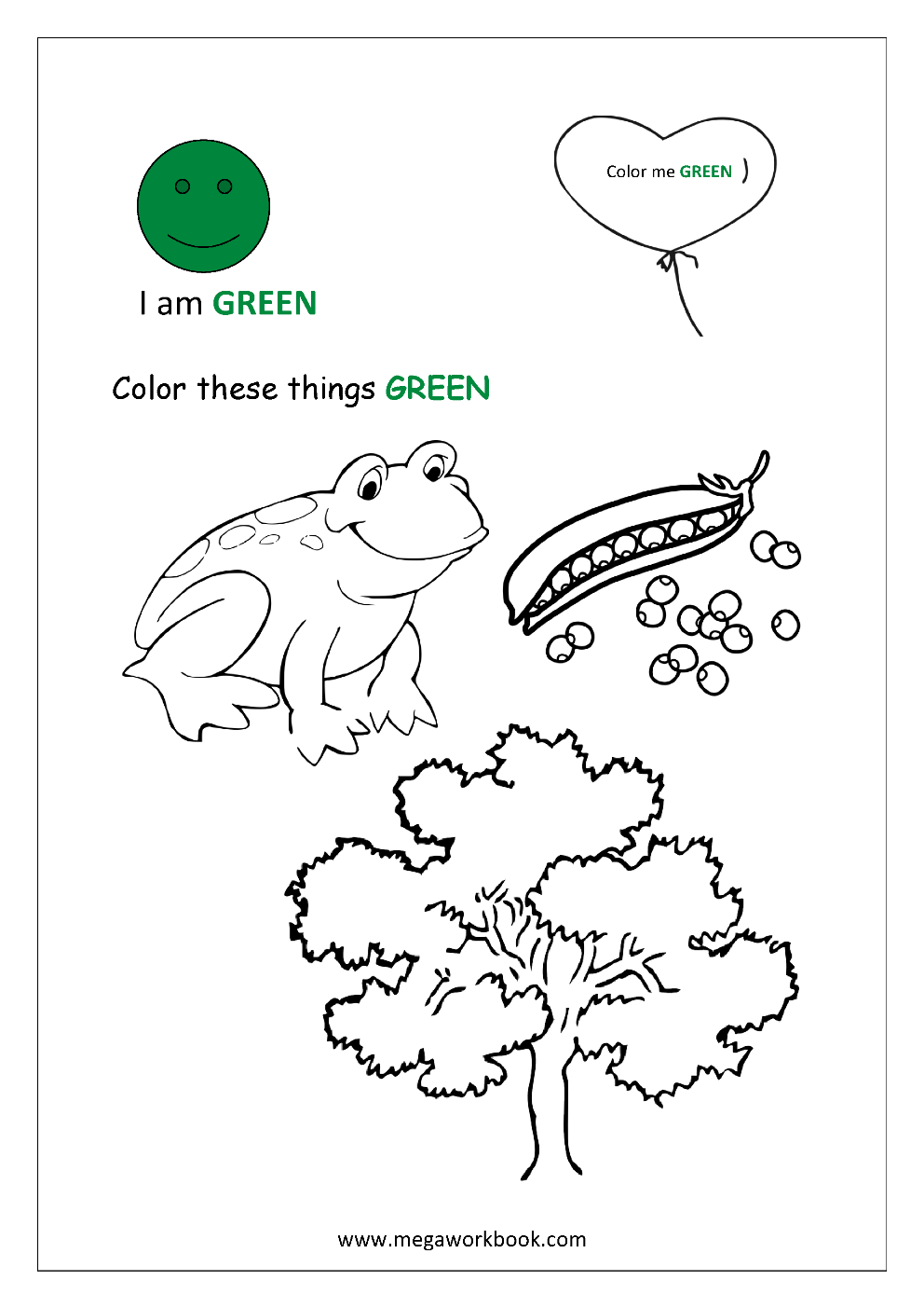 Learn Colors Red Coloring Pages Blue Coloring Pages Yellow Coloring Pages Green Coloring Pages Black White Brown Gray Purple Orange Pink Colors Coloring Pages Megaworkbook