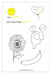 Yellow Coloring Page