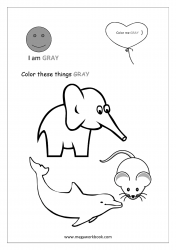 Gray Coloring Page