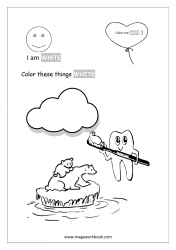 White Coloring Page