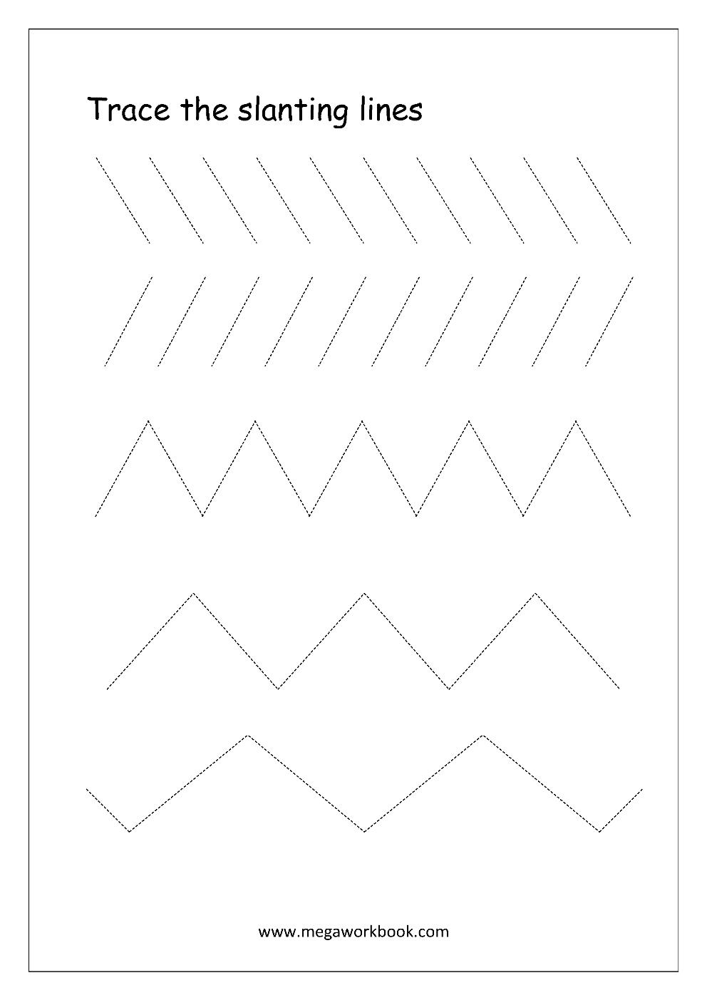 Free Printable Pre Writing Tracing
