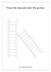 Line Tracing (Ladder) - Pre-Writing Worksheet 3
