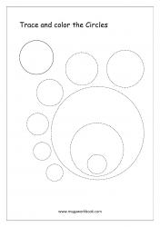 Shapes Tracing Worksheets - Circle Tracing Worksheets - Pre-writing Skills