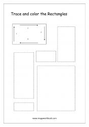 Shapes Tracing Worksheets - Rectangle Tracing Worksheets - Pre-writing Skills