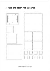 Shapes Tracing Worksheets - Square Tracing Worksheets - Pre-writing Skills