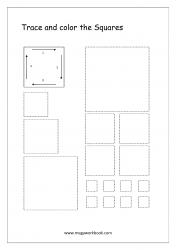 Shapes Tracing Worksheets - Square Tracing Worksheets - Pre-writing Skills