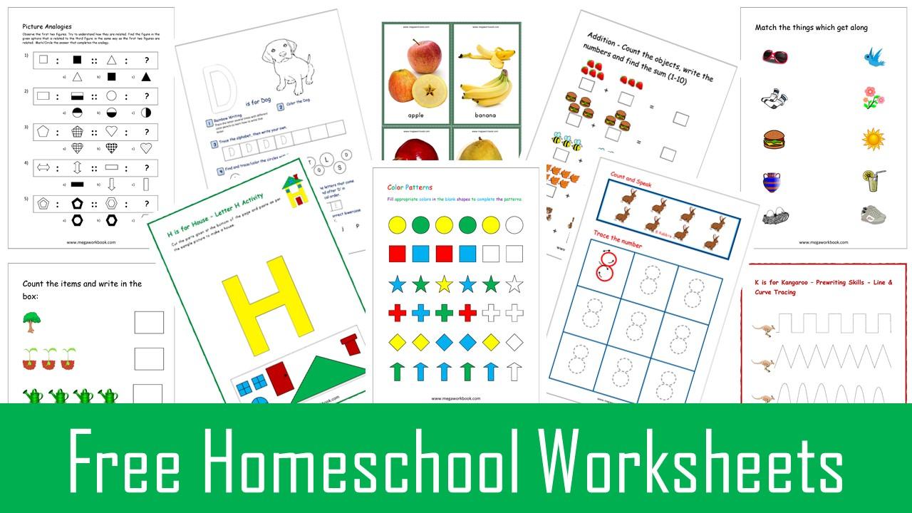 Homeschool Worksheets Free Homeschool Worksheets Kindergarten Homeschool Worksheets Free Homeschool Printable Worksheets Megaworkbook